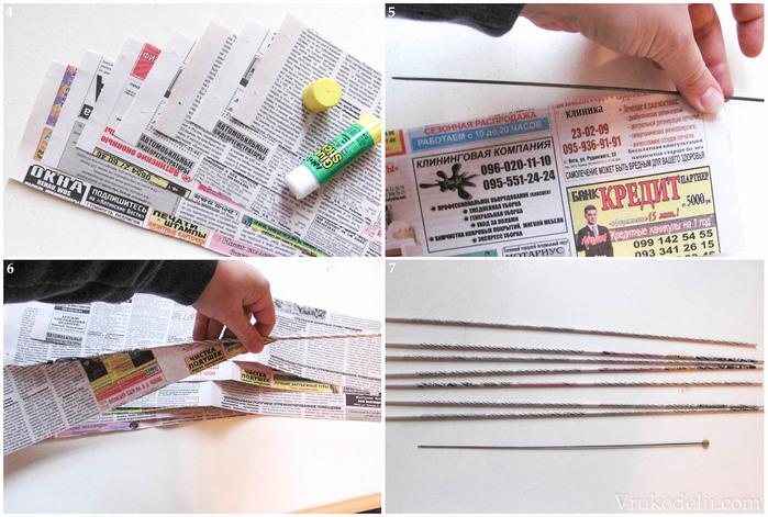 Шкатулка из газеты своими руками