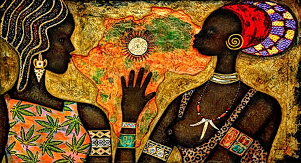 """Оригинал схемы вышивки  """"Африка """" ."""