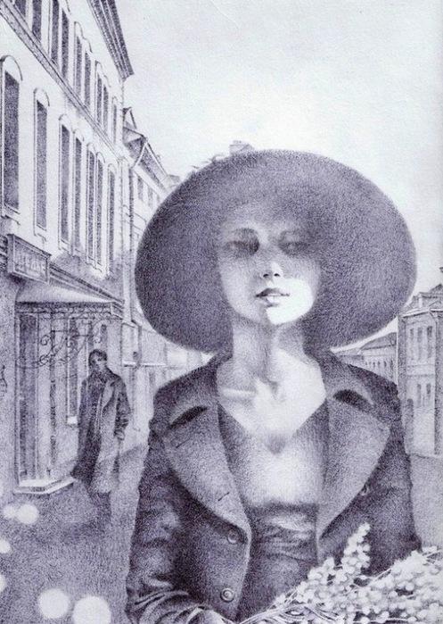 Воспоминания мастера о встрече с Маргаритой (497x700, 145Kb)