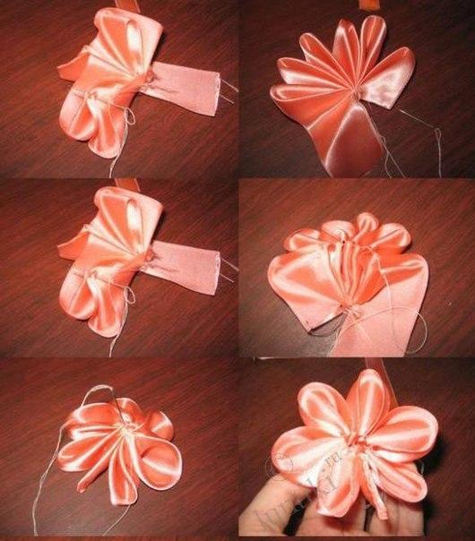 Цветок из лент 1 (530x604, 66Kb)