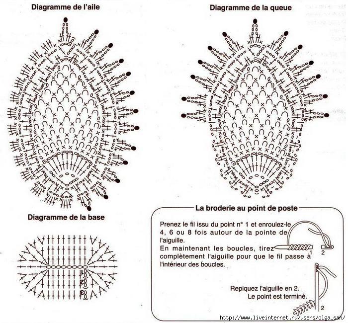 Связать голубей крючком схема и описание