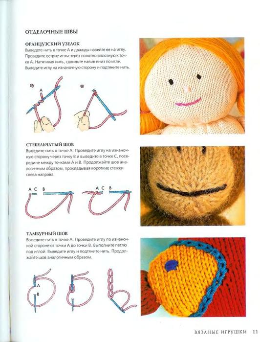 Как сделать глазки на игрушки нитки