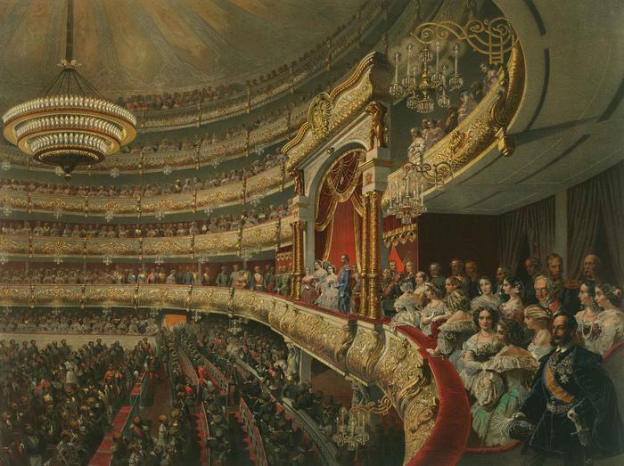 М. А. Зичи. Спектакль в Большом театре по случаю священного коронования императора Александра II (700x523, 542Kb)