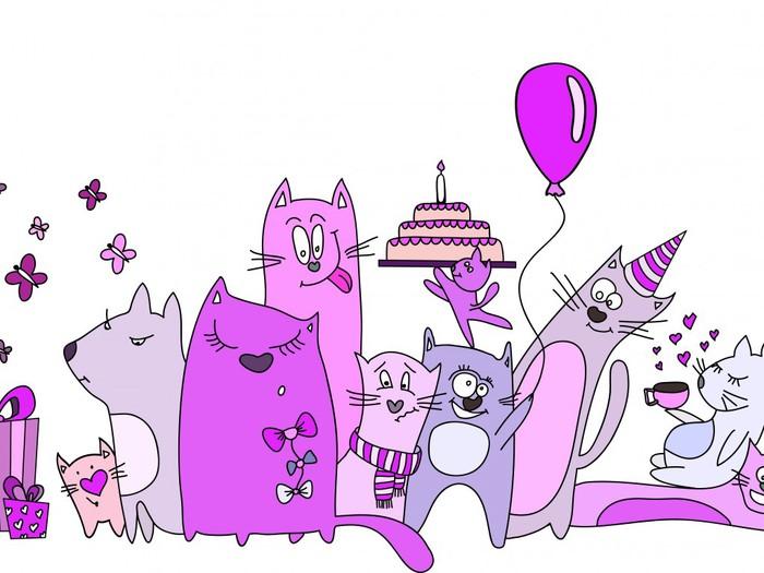 Поздравления кошатнице с днем рождения