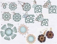 Серьги - цветы и кольца.