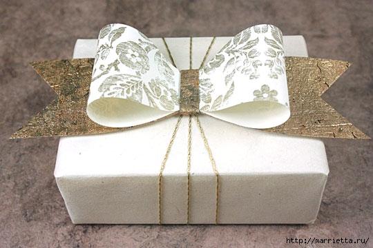 Бантики на подарки своими руками