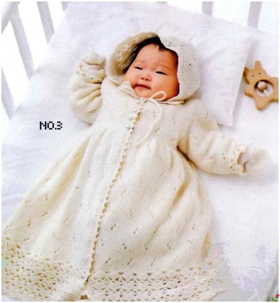 Вязание платьица для новорожденной спицами