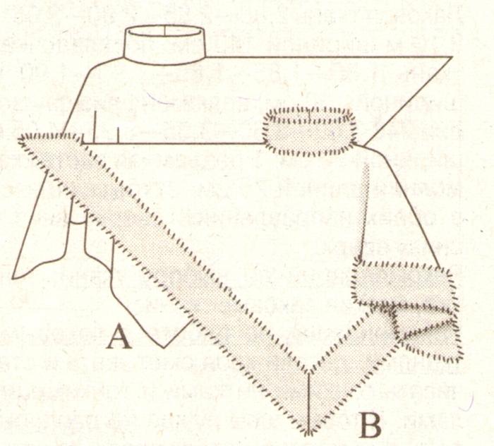 Накидка из квадрата своими руками