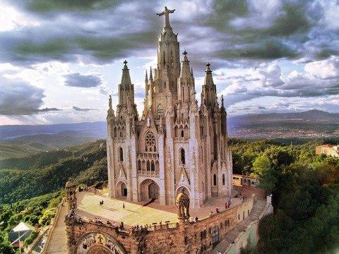 Базилика Тибидабо, Барселона, Испания (480x360, 54Kb)