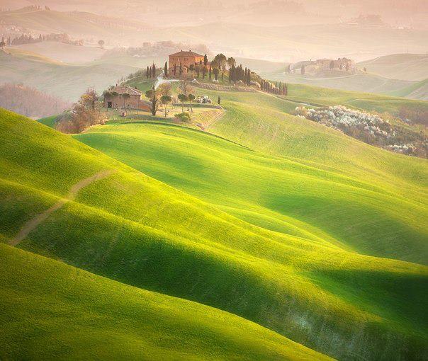 Луга Тосканы, Италия (604x510, 56Kb)