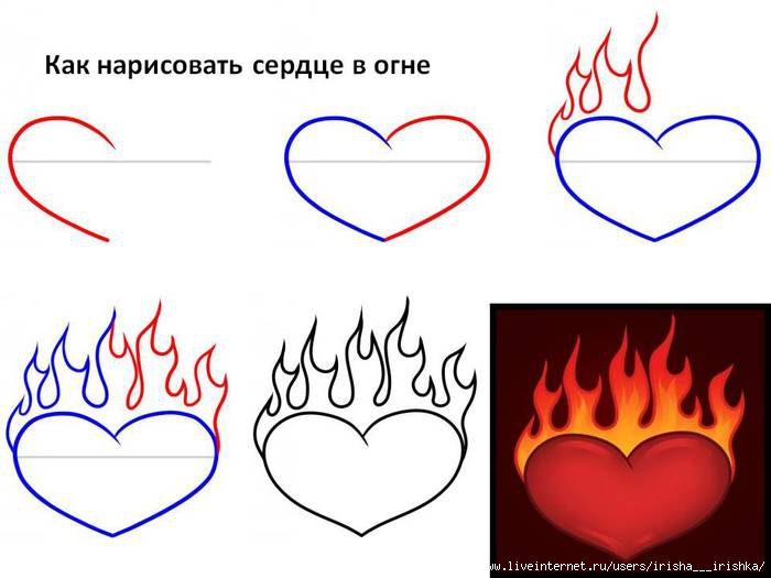 Как нарисовать сердце.