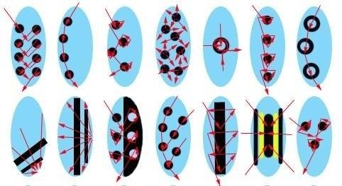 Рисунки на ногтях иголкой схемы.
