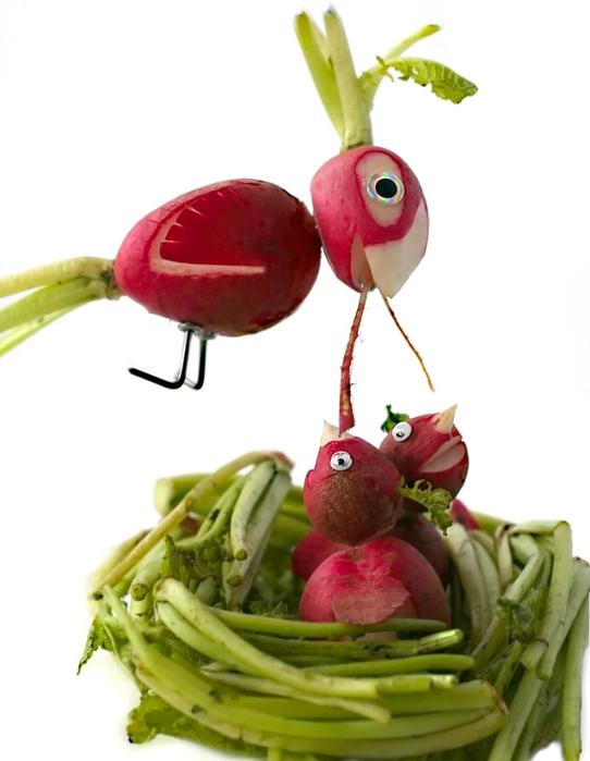 Как сделать фигурки из овощей и фруктов