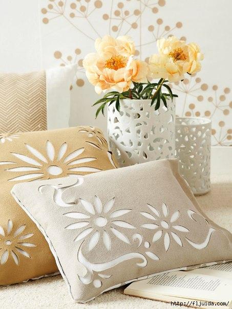 Декорированные подушки своими руками