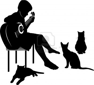 13950608-cats-listening-to-music-played-by-the-young-guitarist (400x361, 19Kb)