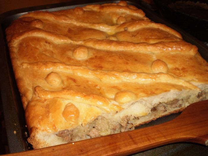 Закрытый пирог фаршем рецепт фото