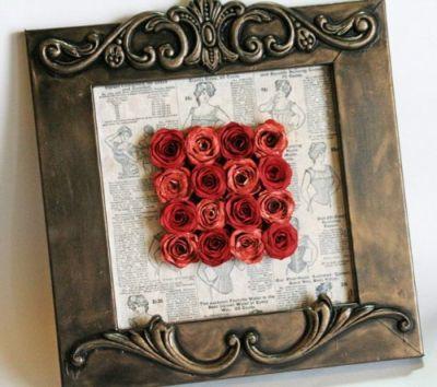 Розы в рамке (400x354, 30Kb)