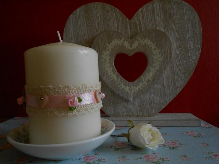 Романтичное преображение свечи своими руками