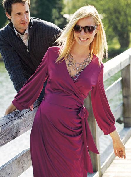 Платье халат с запахом бурда моден