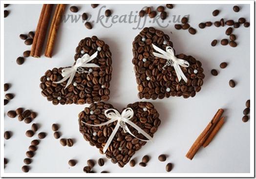 Кофейные сердечки своими руками