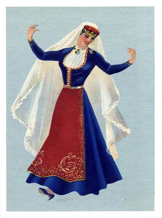 Раскраска русская одежда