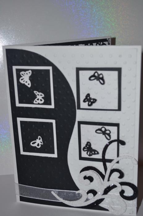 Чёрно-белые открытки своими руками 50