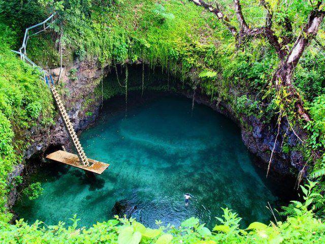 Необычный бассейн на острове Уполу, Латофага, Самоа (640x480, 107Kb)