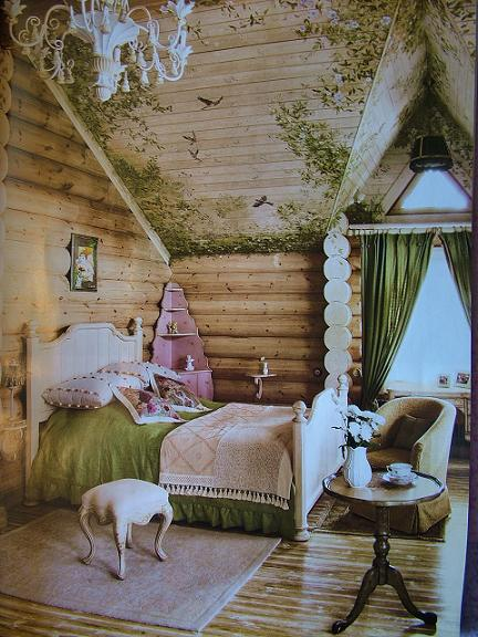 Роспись стен в деревянных домах