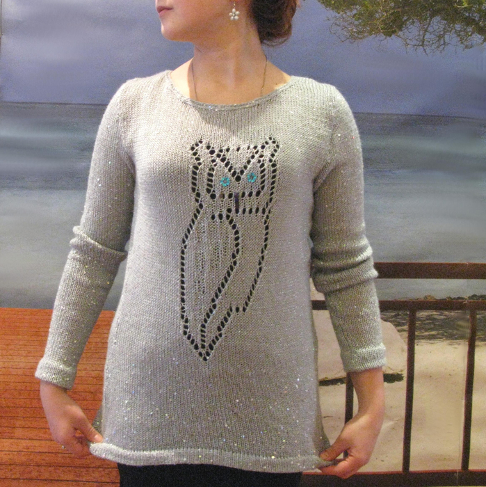 Схема свитера с совой