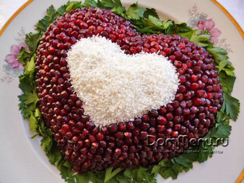 Как сделать салат в виде сердца без формы