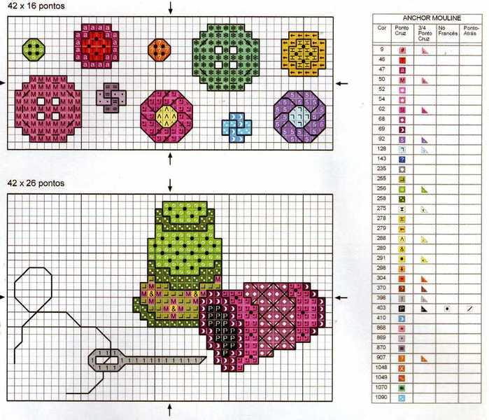 Вышивка со схемами для рукодельниц