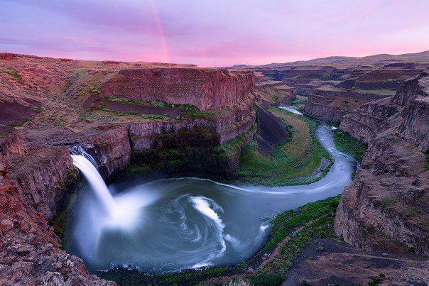 Водопад Palouse Falls, Вашингтон, США (604x403, 64Kb)