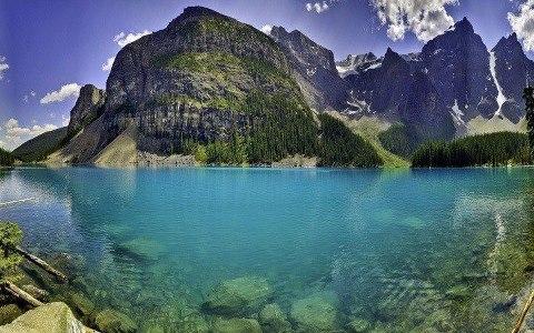 Национальный парк Банф (Banff), Канада, озеро Морейн. (480x300, 53Kb)