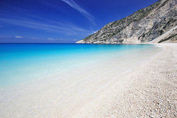 Пляж Миртос, Кефалония, Греция (570x381, 44Kb)