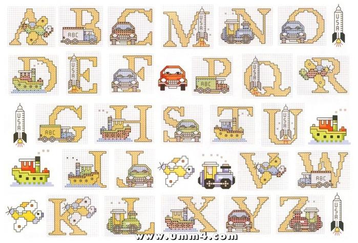 Вышивка детского алфавита