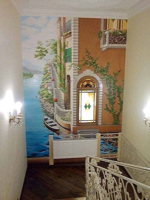 Оформление стен в частном доме