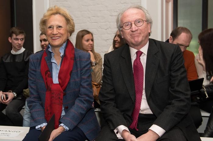Посол Испании Хосе Игнасио Карбахаль Гарате с супругой (700x465, 216Kb)