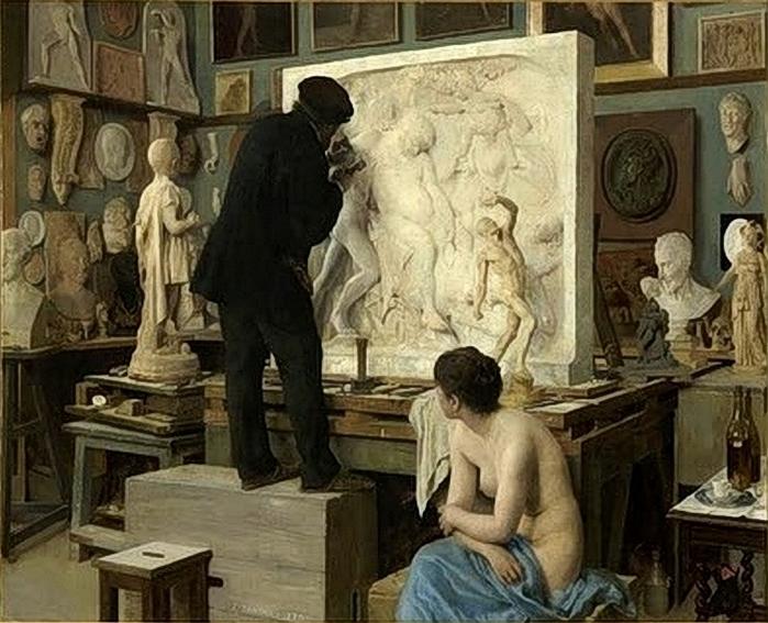 Coin d'atelier, Édouard Joseph Dantan (1848 - 1897) (700x567, 306Kb)