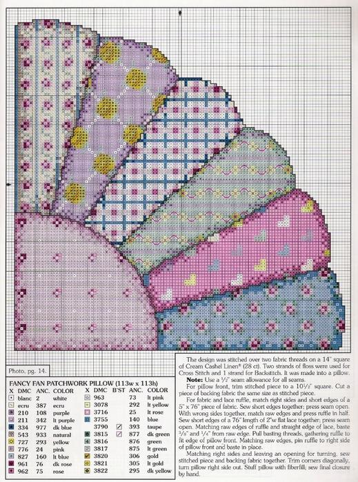 схемы вышивки подушки