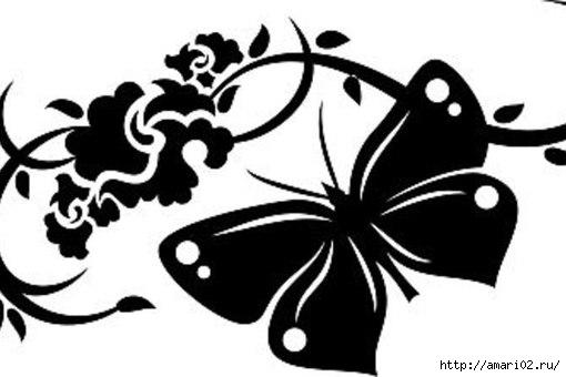 свой цитатник или сообщество!  Трафареты бабочек.  Размещено с помощью приложения.  Я - фотограф.