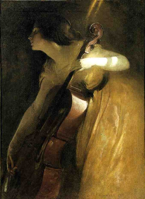 A Ray of Sunlight (The Cellist), 1898. John White Alexander (American, 1856-1915 (509x700, 256Kb)