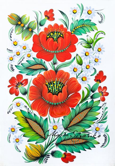 калина рисунок: