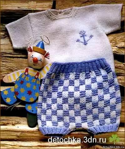 """Детский комплект:кофточка и штанишки для малыша. http://detochka.3dn.ru. вам потребуется: 110 г пряжи  """"Merino Fine..."""