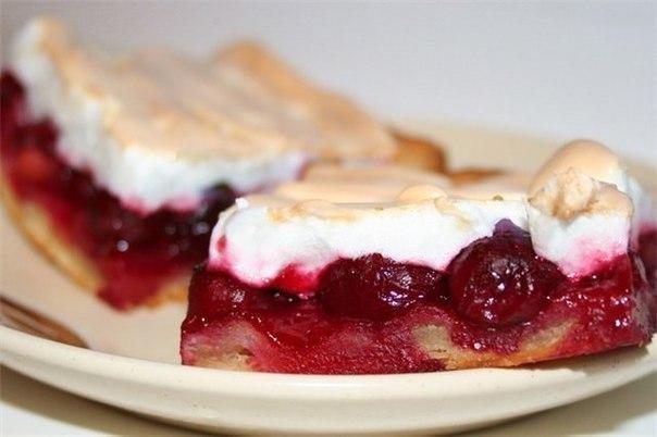 Пирог с вишнями и безе (604x402, 37Kb)
