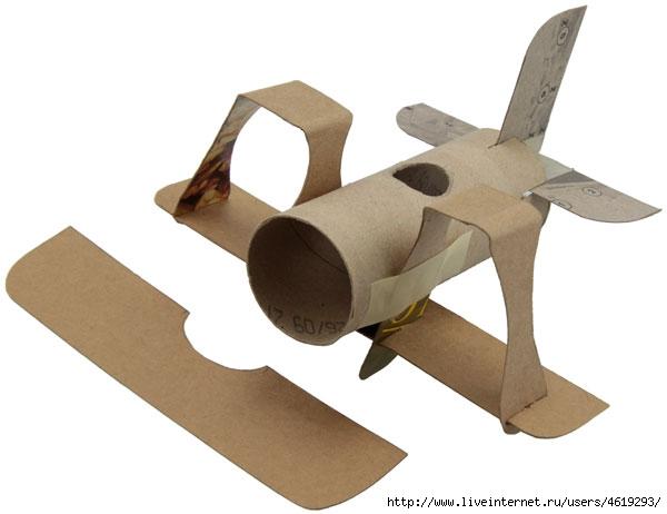 Как сделать военный самолёт из картона
