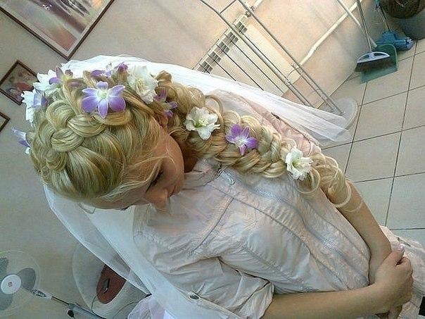 Косички прическа на свадьбу