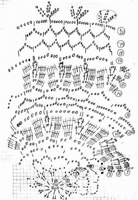 Схема вязания лебединое озеро
