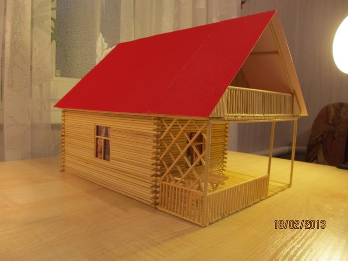 Дом из палок своими руками 3