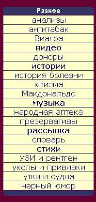 Разное на сайте доктора Цитрамончика (198x417, 30Kb)