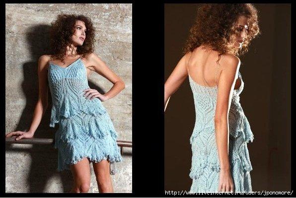 针织:桌布花型的吊带裙(新流行) - maomao - 我随心动